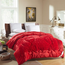 china wholesale patchwork bed sheet designs wedding quilting fabrics red duvet by embroidery machine