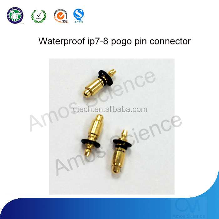 Newest waterproof ipv7-8 pogo spring Loaded pin Connector