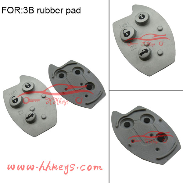 NEW soft Citroen C5 repalcement remote key 3 button rubber pad