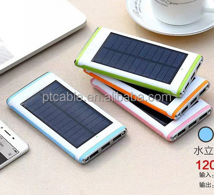 2016 September Hot selling high capacity portable solar power bank , Smart phone solar panel phone battery charger 8000mah