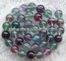 10mm round natural loose fluorite nice names of semi precious stone
