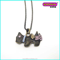 2015 manufacturer promotional fashion antique bronze plated pendant necklace jewelry #14437