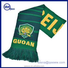 Custom Wholesale gift Knitted Jacquard Football Team soccer fan scarf