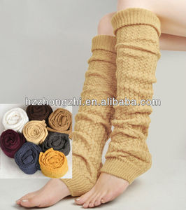New arrival custom knitting thermal leg warmer