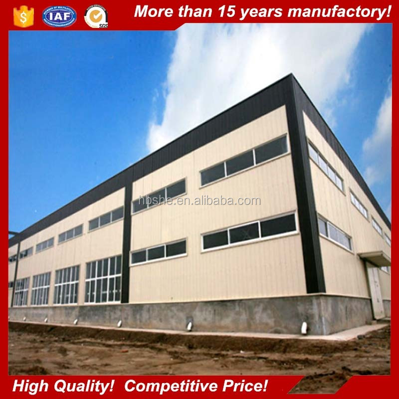 high rise prefab Light steel structure building for warehouse