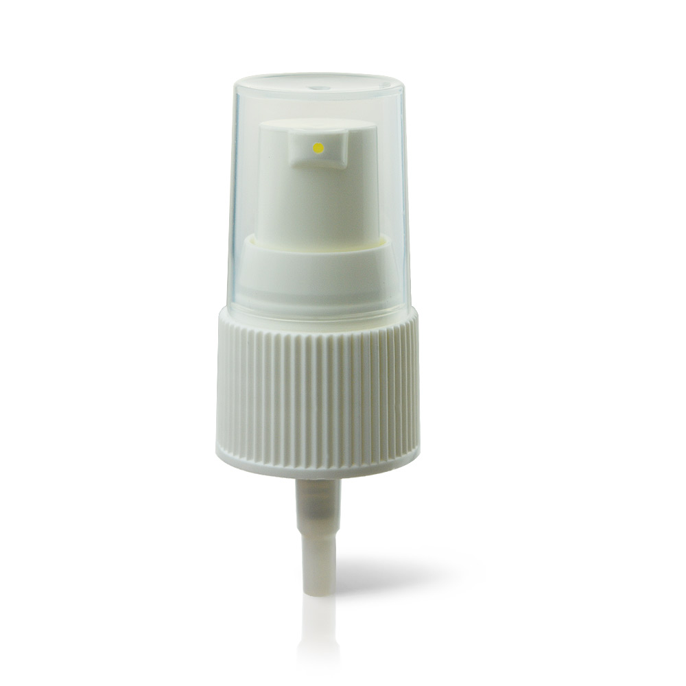18/415 Ribbed Wall Cream Pump Treatment Pump with PP Clear Hoods