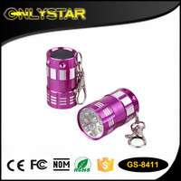 gift wholesale portable aluminum keychain light led