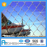 Made In Guangdong AEOMESH Chain Link barbed airport wire mesh fence