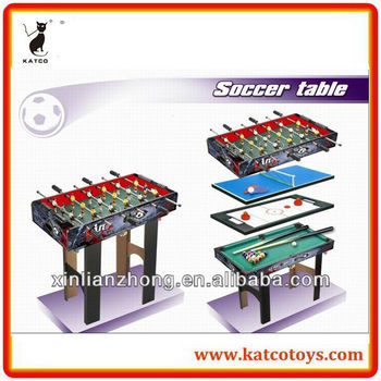 Soccer table/ping-pong/air hocky puck/ billiards toys 4 in 1