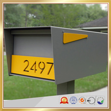 Outdoor free standing stainless steel mailbox OEM postbox