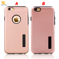 Scrub Rubber Anti-drop Double Colos Phone Case for iPhone 8
