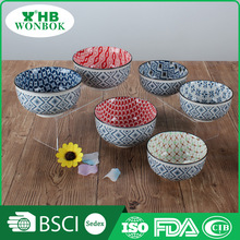 Various color low price FDA fancy ceramic soup dinnerware bowl