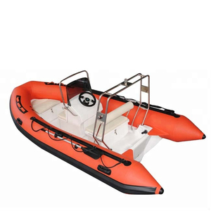 AIDIME 4.3m fiberglass hull rib boat inflatable fishing kayak