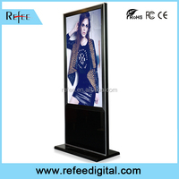 Network LCD monitors, IR touch screen, HD digital ad display with marble pedestal high-end design