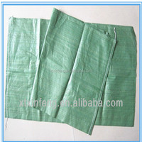 High quality low price cement Russian building garbage green woven 50kg PP sand bag