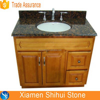 Imported Baltic Brown Granite Vanity Tops with Sink