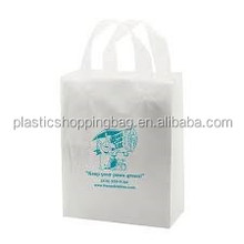 Soft Loop White Film Your Own Logo Printed Plastic Shopping Bag