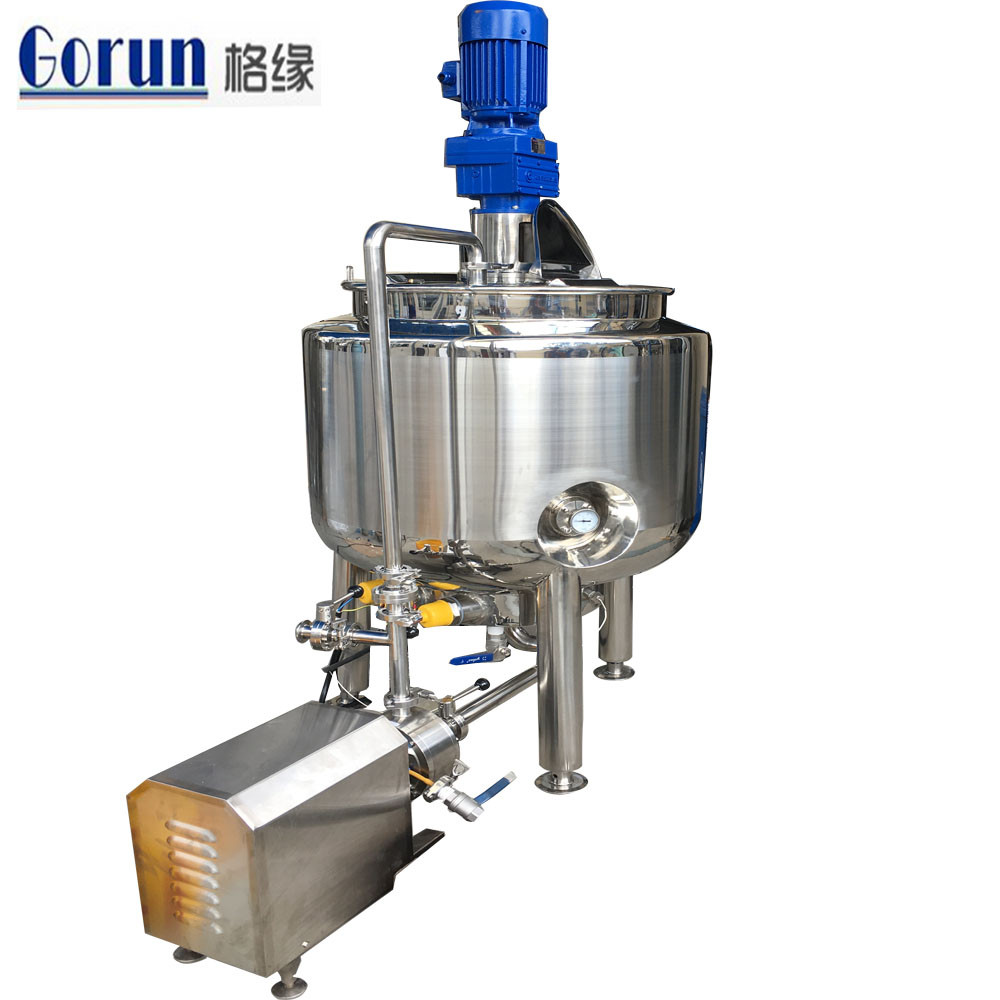 Sauce Vacuum Emulsifying Mixer With 1000l Oil,Water Tank Cheap Peanut Butter Vacumm Mixer
