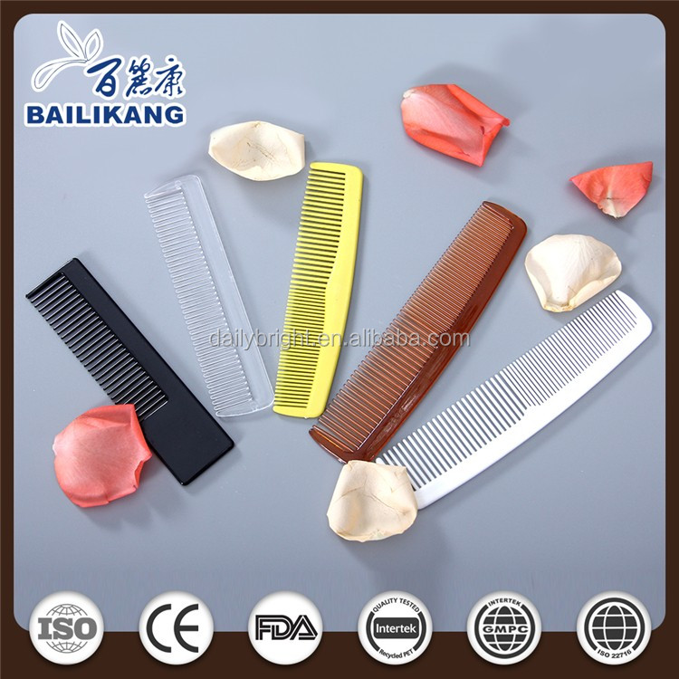 white plastic convenient travel hair comb