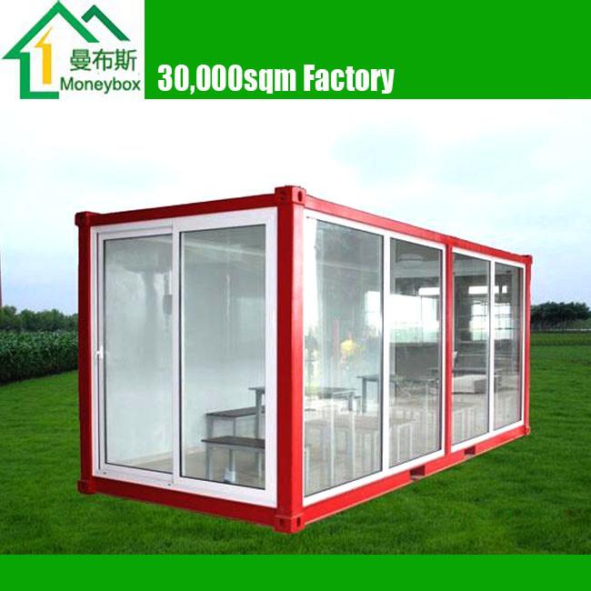 Morden pr fabriqu e portable mur de verre contenant maison - Maison portable ...
