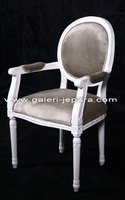 French Diningroom furniture - Home Furniture in Jepara - White Furniture with Upholstery