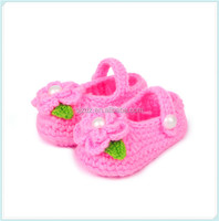 Fashion cotton china flats baby shoes crochet shoes for kids
