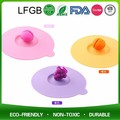 Eco-friendly cute rubber universal cover silicone cup lid