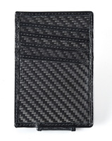 Genuine leather carbon fiber name card holders,wallet,money clip,carbon fiber bag