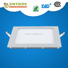 Sinywon 2016 hot 9mm Super slim AC85-265V 3W 6W 9W 12W 15W 18W 24W round/flate SMD led square panel light