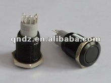 aluminium alloy Flat (Dia.16mm) 5 pin push button switch