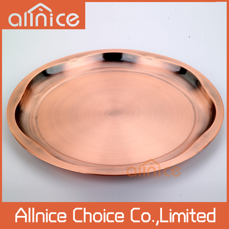 35-50 cm Fashion design round food tray/hotel resteraunt appliance stainless steel serving trays