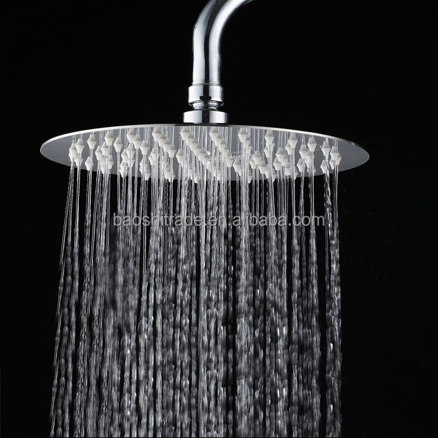 Faucet Accessories Round Shape 201 Stainless Steel Ultra Slim Shower Head