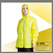 100% waterproof windproof disposable nylon TPU coated winter A-055 motorcycle rain jacket