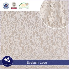 2017 high quality cheap Nylon spandex polyester eyelash textile french lace fabric wholesale dubai french lace