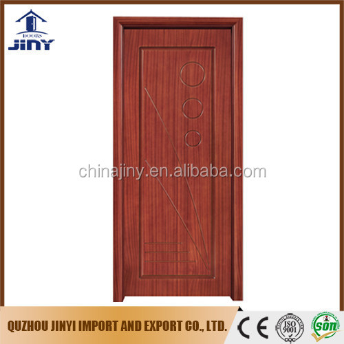 most popular interior room wooden single door flower designs from China factory