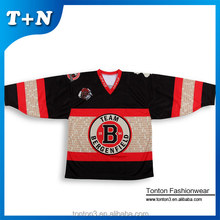 custom made race embroidery logos lightweight reversible ice hockey jersey