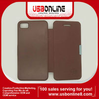 New Deluxe and Fashionable PU Leather Flip Case Cover for blackberry Z10 brown