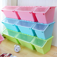 Waterproof Home Living Room Plastic Folding Storage Box With Lid