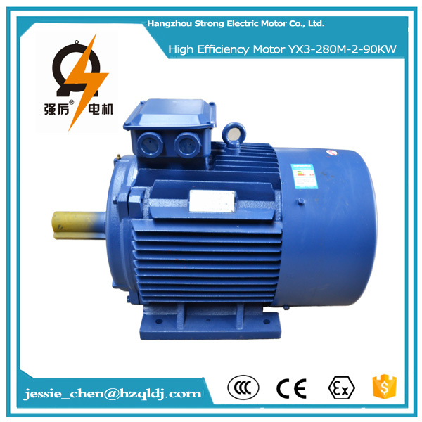 90kw 125hp power motor ac electrical anti-explosion motor