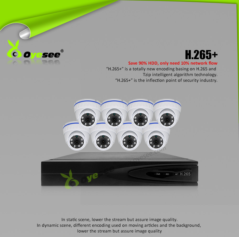 H.265+ Outdoor 8MP network 8ch 4k cctv system