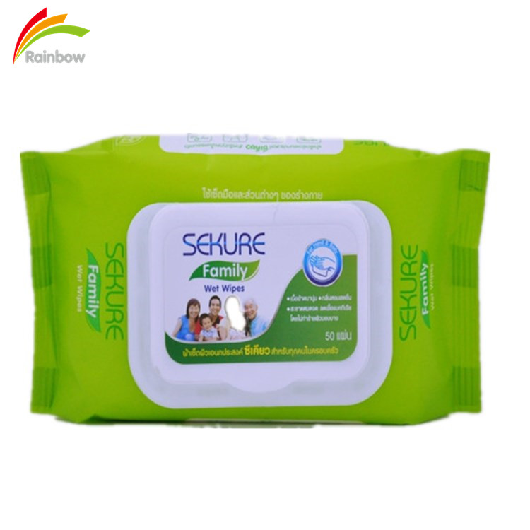 80ct hot sale spunlace nonwoven scented organic baby wet wipes with lid