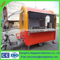 China mobile food vending machine van for sale