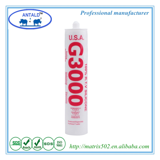 Jiang Xi Factory Sale Flexible Acetic Structural Colored Silicone Sealant G3000 MSDS
