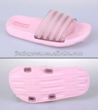 New style popular lady's rhinestone flip flop for footwear and promotion,light and comforatable