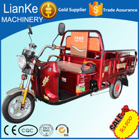Large loaded china three wheel battery operated tricycle/CCC certification electric tricycle