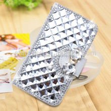 For Samsung Galaxy S4 mini I9190 Case Cover Wholesale Bling Diamond Leather Case For Samsung Galaxy S4 mini I9190