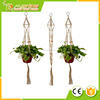 Wholesale 2 Pack Plant Hanger with Ring Jute 4 Leg 43.5 Inches for Indoor Outdoor Ceiling Deck Balcony Round and Square Pots