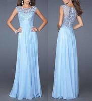 Women Sleeveless Evening Long Dresses 2017 Runway Prom Dress