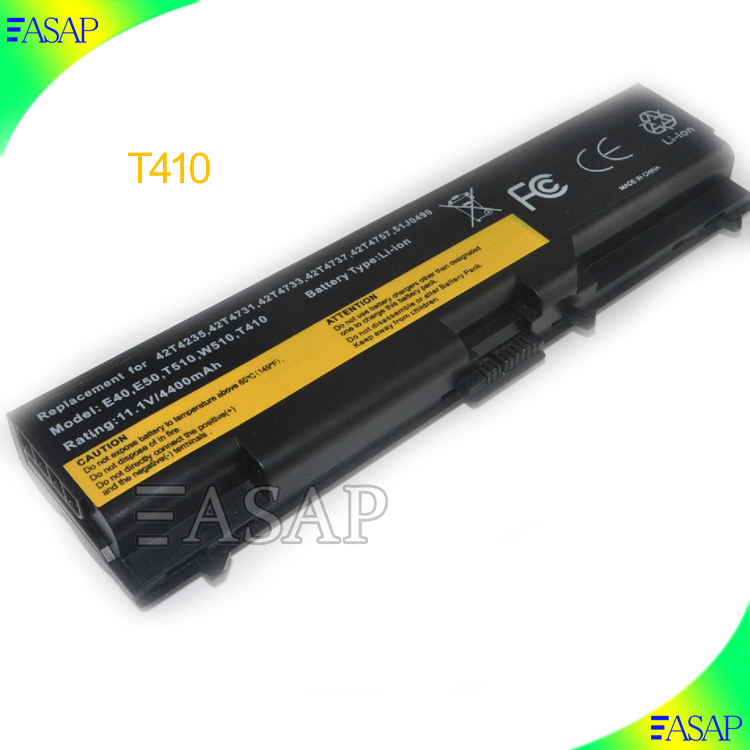 replacement battery For Lenovo ThinkPad T410 T410i T420 T510 T510i T520 T520i SL510