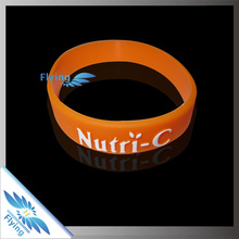 OEM promotional item branded rubber wristbands